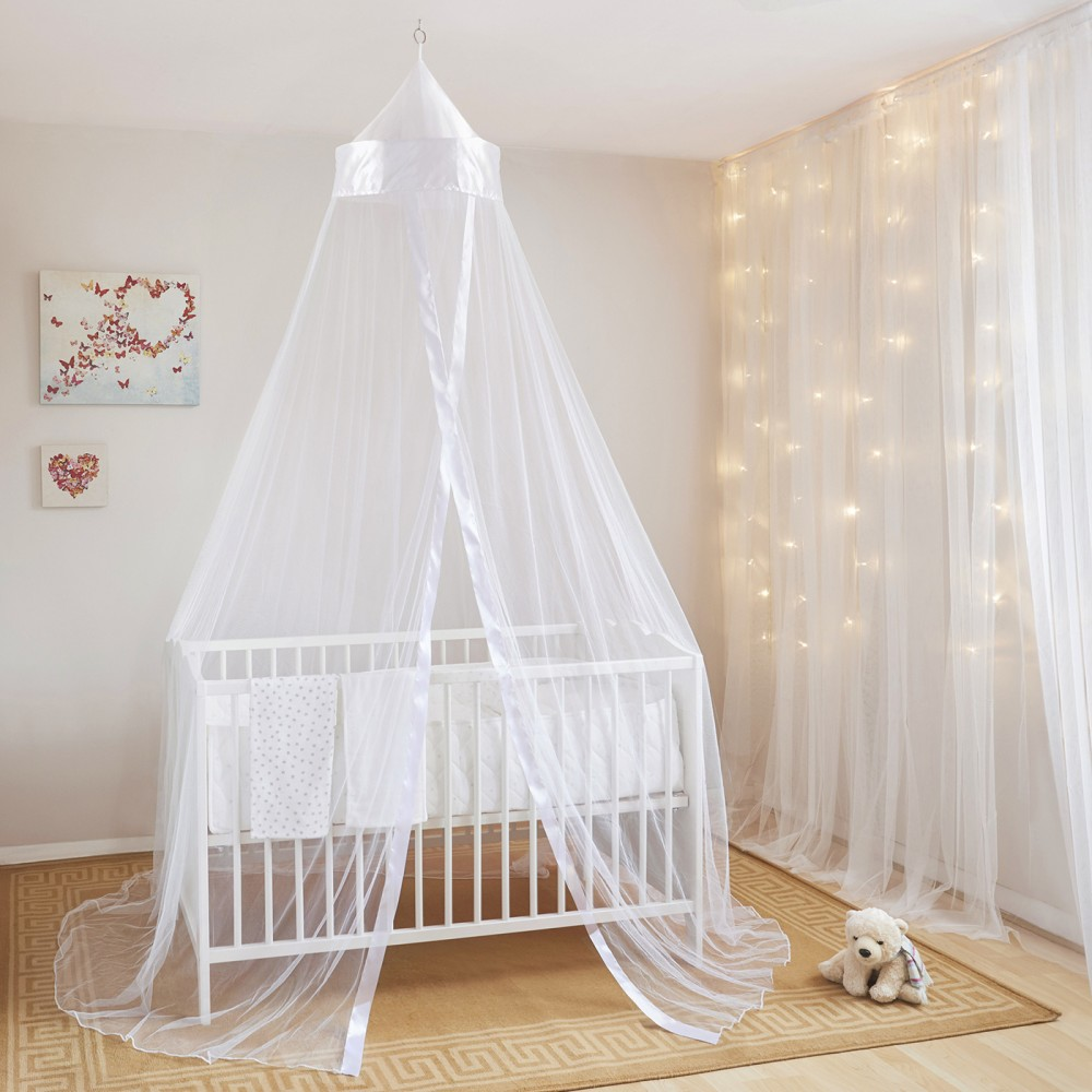 Baby Bed Canopy Mosquito Net - White